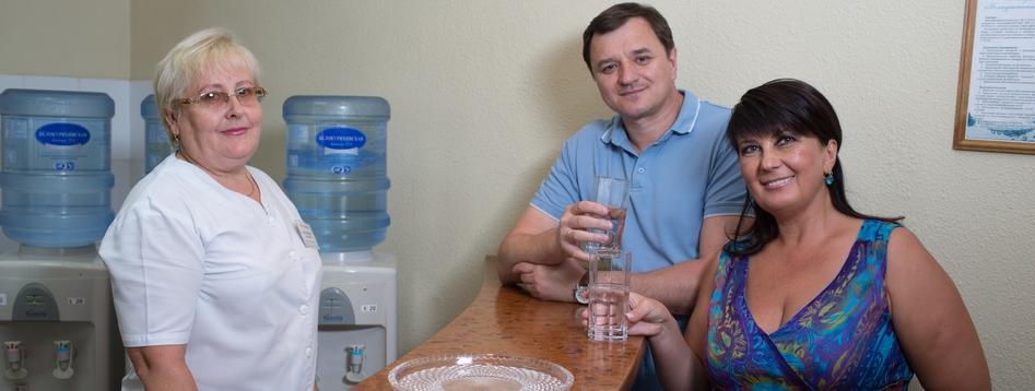 Прием минеральной воды в санатории алтай вест